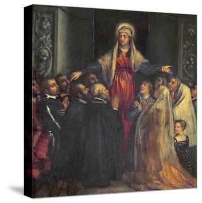 Madonna Della Misericordia-Titian (Tiziano Vecelli)-Stretched Canvas Print