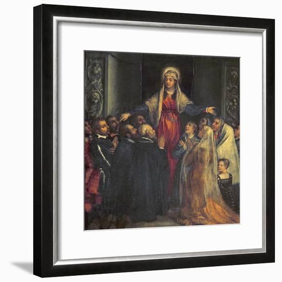 Madonna Della Misericordia-Titian (Tiziano Vecelli)-Framed Giclee Print