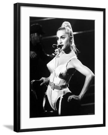 Madonna during Her Blonde Ambition Tour--Framed Premium Photographic Print