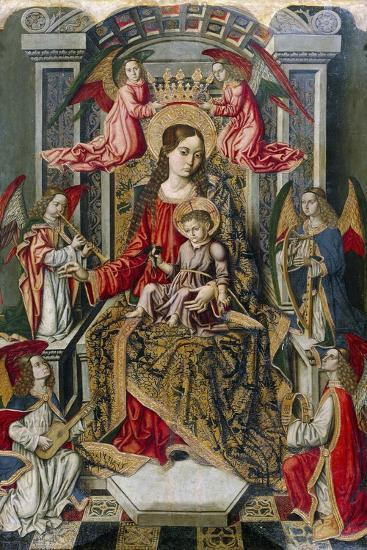 Madonna Enthroned, Detail from Saint Peter's Altarpiece--Giclee Print
