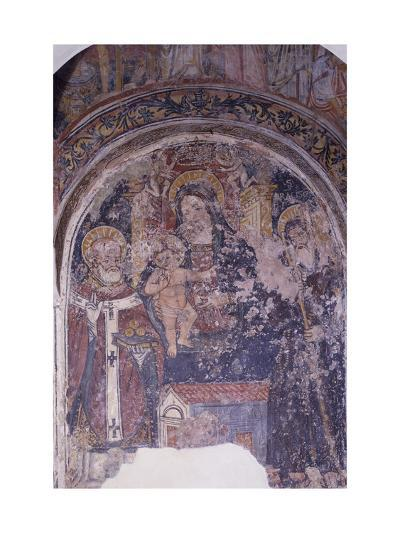 Madonna Enthroned with Child and Saints, Church of San Pietro, Otranto, Apulia, Italy--Giclee Print