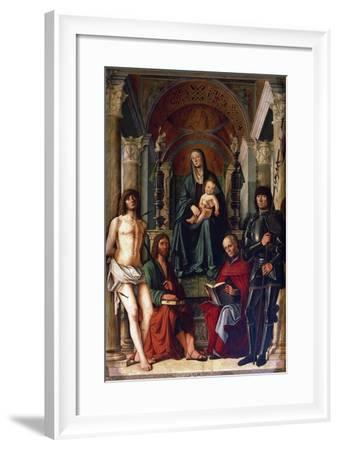 Madonna Enthroned with Saints, 1492--Framed Giclee Print