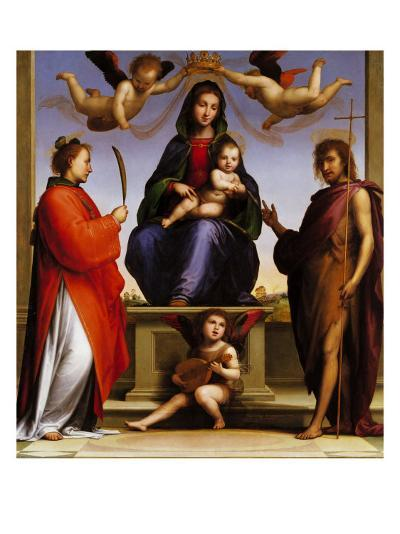 Madonna Enthroned with Saints-Giovanni de' Medici-Giclee Print
