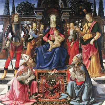 Madonna Enthroned with Saints-Domenico Ghirlandaio-Giclee Print
