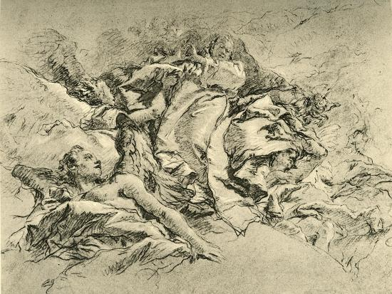 'Madonna in clouds surrounded by Angels', c1754, (1928)-Giovanni Battista Tiepolo-Giclee Print
