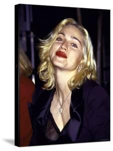 Madonna in Dark Red Lipstick