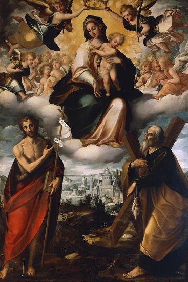Madonna in Glory with Child, St John the Baptist and St Andrew, before 1626-Giovanni Domenico Catalano-Giclee Print
