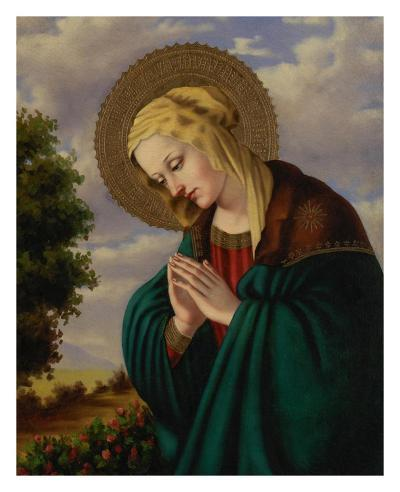 Madonna in Prayer-Joe Ortiz-Art Print