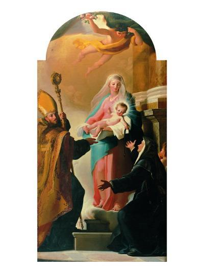 Madonna of the Belt, St Augustine and St Monica-Jacob-Philippe Hackert-Giclee Print