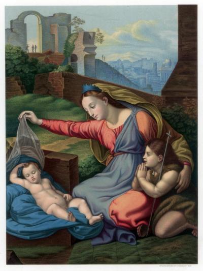 Madonna of the Blue Diadem, 1510-1511-Franz Kellerhoven-Giclee Print