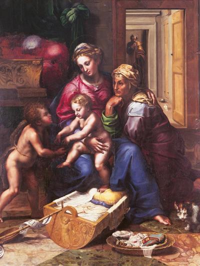 Madonna of the Cat-Giulio Romano-Giclee Print