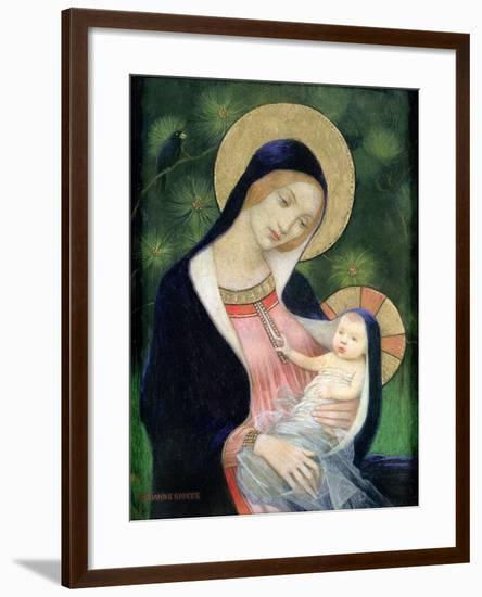 Madonna of the Fir Tree, 1925-Marianne Stokes-Framed Giclee Print