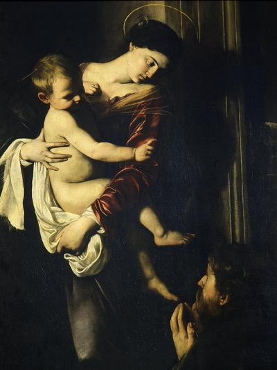 Madonna of the Pilgrims, Called the Loreto Madonna (Detail)-Caravaggio-Giclee Print