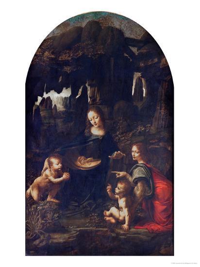 Madonna of the Rocks, circa 1478-Leonardo da Vinci-Giclee Print
