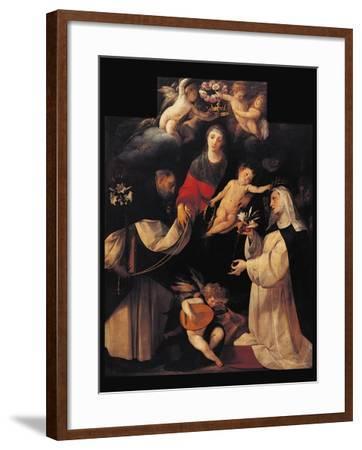 Madonna of the Rosary-Cerano Crespi-Framed Art Print