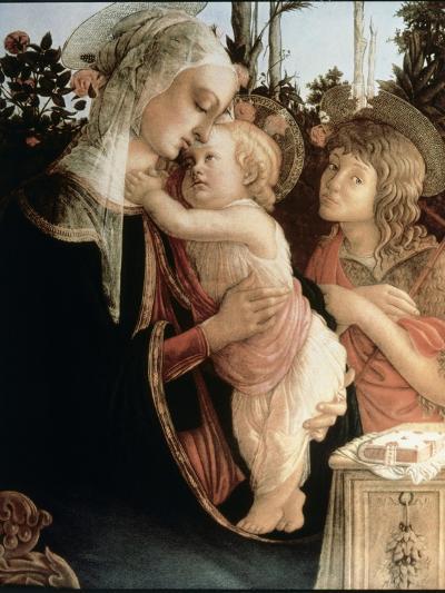 Madonna of the Rosegarden No.2 (with St. John Baptist)-Sandro Botticelli-Giclee Print