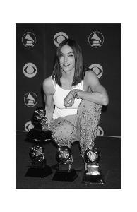 Madonna Posing with Awards