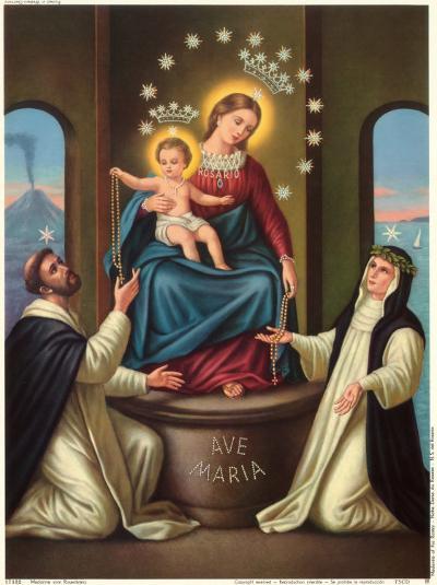 Madonna Vom Rosenkranz Pompej--Art Print