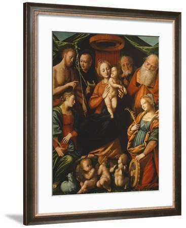 Madonna with Child and Saints--Framed Giclee Print