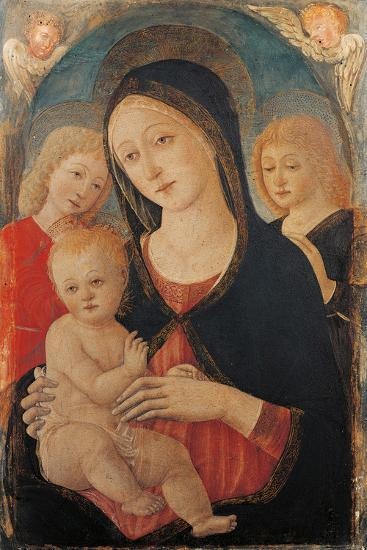 Madonna with Child and Two Angels-Cozzarelli Guidoccio-Giclee Print