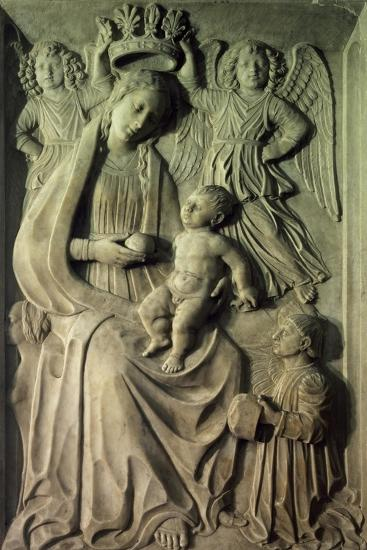 Madonna with Child, Bas-Relief of Cloister of Amalfi Cathedral, Campania, Italy--Giclee Print