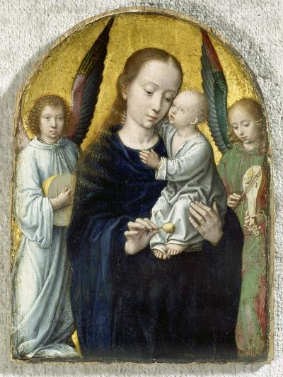 Madonna with Child Between Music Making Angels, 1490-95-Gerard David-Giclee Print