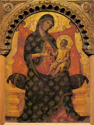 Madonna with Child Enthroned-Paolo Veneziano-Giclee Print