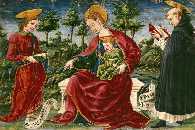 Madonna with Child, Miniature from Bolognese Master from Liber Iurium--Giclee Print