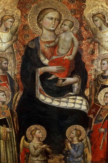Madonna with Child, Saints and Angels, Late 14th or Early 15th Century-Niccolo di Pietro Gerini-Giclee Print