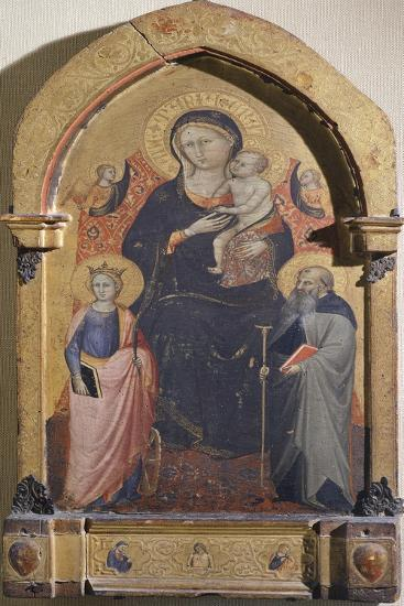 Madonna with Child, St Catherine of Alexandria and St Anthony Abbot-Bicci di Lorenzo-Giclee Print