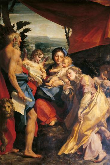 Madonna with St Jerome (the Day)-Correggio-Giclee Print