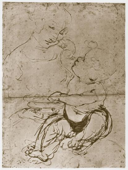 Madonna with the Fruit-Plate, 1480-82-Leonardo da Vinci-Giclee Print