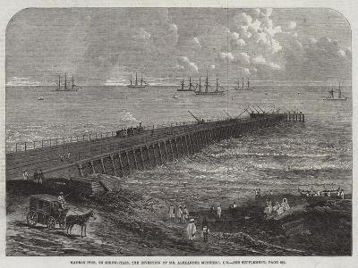 Madras Pier, on Screw-Piles, the Invention of Mr Alexander Mitchell, Ce--Giclee Print