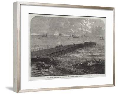 Madras Pier, on Screw-Piles, the Invention of Mr Alexander Mitchell, Ce--Framed Giclee Print