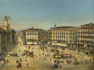 Madrid, Puerta Del Sol--Giclee Print