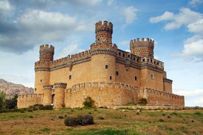 Madrid,  SPAIN - 20 Juny, 2009, Manzanares El Real Castle (Spain) Build in the 15Th. Century-TTstudio-Photographic Print