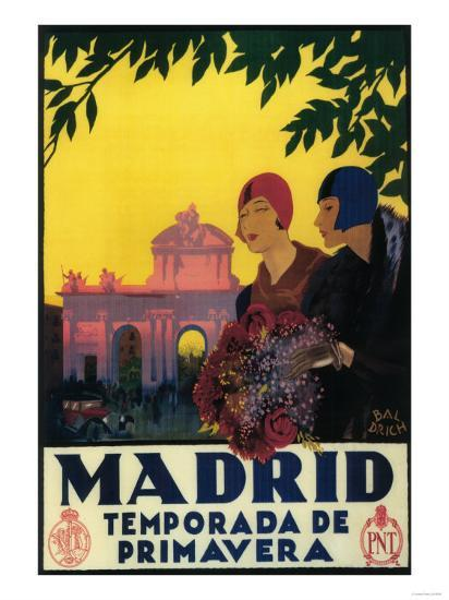 Madrid, Spain - Madrid in Springtime Travel Promotional Poster-Lantern Press-Art Print