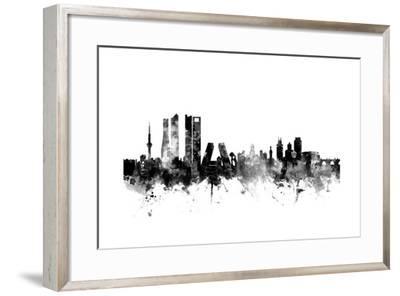 Madrid Spain Skyline-Michael Tompsett-Framed Art Print