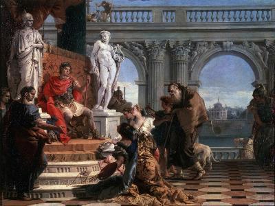 Maecenas Presenting the Arts to Augustus, 1743-Giovanni Battista Tiepolo-Giclee Print