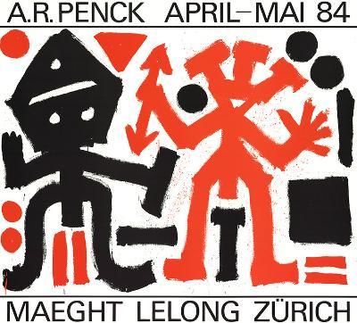 Maeght Lelong Zurich-A^R^ Penck-Art Print