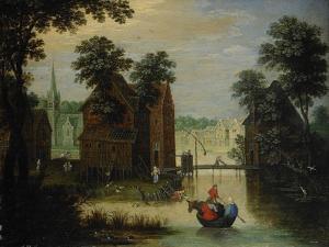 River Landscape with the Flight into Egypt, 1616 by Maerten Ryckaert