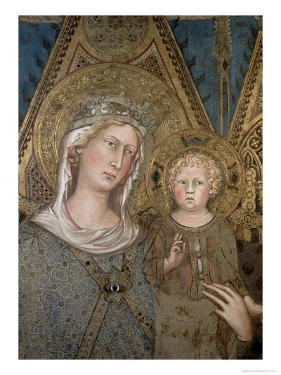 Maesta, Detail of the Madonna and Child, 1315-Simone Martini-Giclee Print