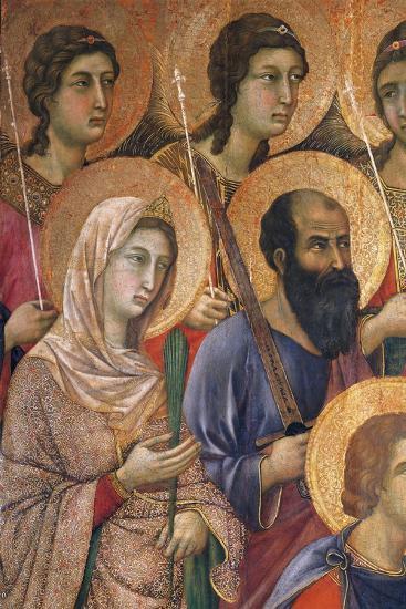 Maesta' of Duccio Altarpiece in Cathedral of Siena-Duccio Di buoninsegna-Giclee Print