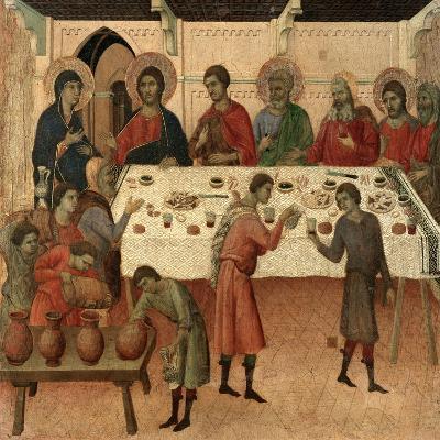 Maestà - Public Life of Christ: the Wedding Feast of Cana, 1308-1311-Duccio Di buoninsegna-Giclee Print