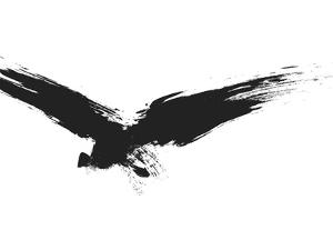 An Image Of A Grunge Black Bird by magann