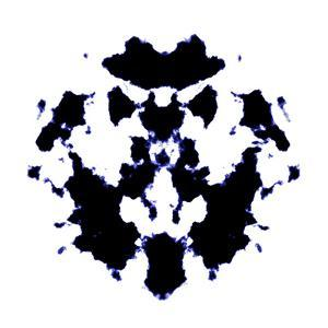 Black And White Rorschach Graphic by magann
