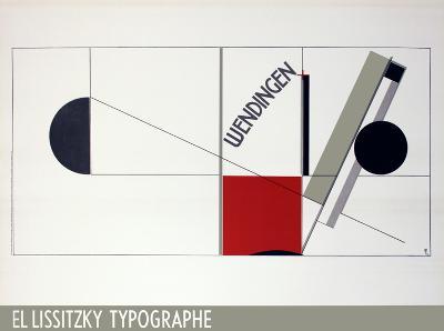 Magazine Cover Design Twists-El Lissitzky-Art Print