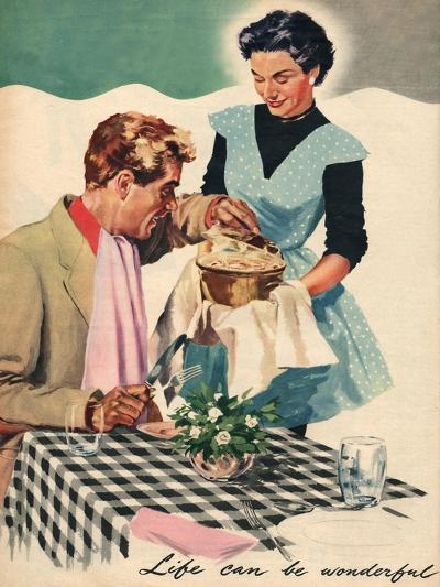 Magazine Illustration, 1954--Giclee Print
