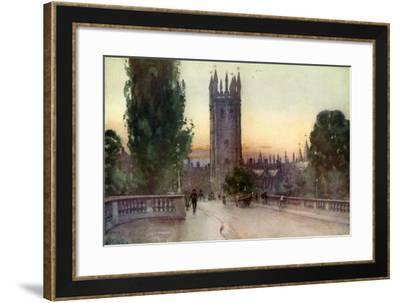 Magdalen Bell Tower, Oxford, Oxfordshire, 1924-1926-George F Nicholls-Framed Giclee Print