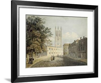 Magdalen College and the Eastern End of the High Street-Robert Revd Nixon-Framed Giclee Print